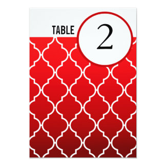 Quatrefoil Ombre Table Numbers | red