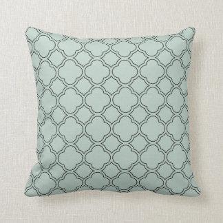 Quatrefoil Palladian Blue Decorative Pillow