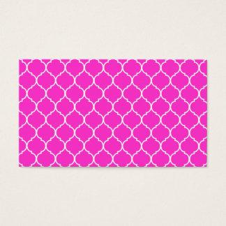 Quatrefoil Pattern Business Card