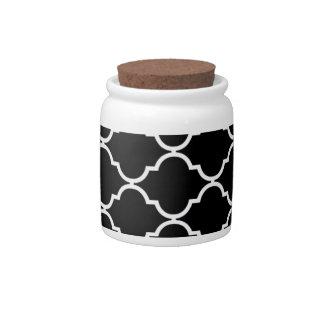 Quatrefoil Pattern Candy Jar