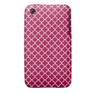 Quatrefoil Pattern iPhone 3 Cases
