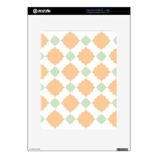 Quatrefoil pattern decal for the iPad