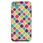 Quatrefoil Pattern Green Pink Purple Orange Teal iPhone 6 Case