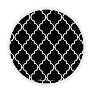 Quatrefoil Pattern Icing Round Edible Frosting Rounds