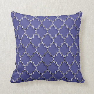 Quatrefoil Pattern Indigo Pillow