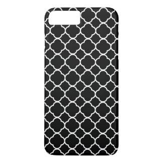 Quatrefoil Pattern, Quatrefoil Shape - Black White iPhone 8 Plus/7 Plus Case
