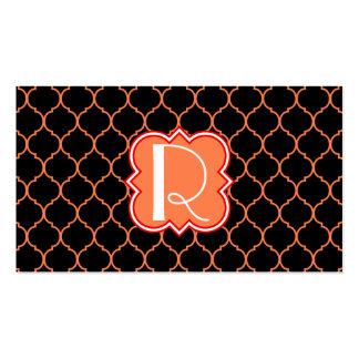 Quatrefoil Pattern with Monogram Business Card