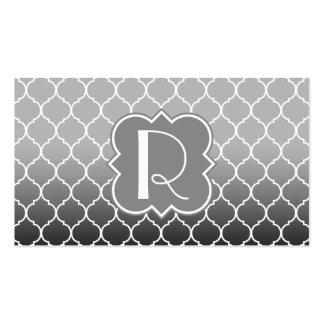 Quatrefoil Pattern with Monogram Business Cards