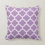 Quatrefoil Pillow - African Violet Purple Pattern