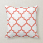 Quatrefoil Pillow - Coral