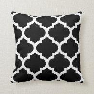 Quatrefoil Pillow in Black and White