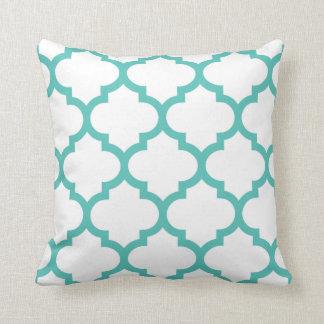 Quatrefoil Pillow - Turquoise