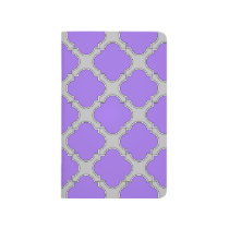 Quatrefoil purple and gray journal
