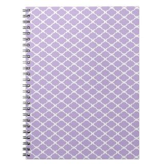 Quatrefoil púrpura libro de apuntes con espiral