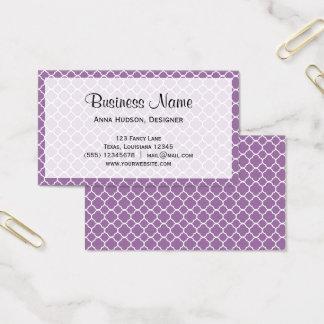 Quatrefoil Shape (Quatrefoil Tiles) - Purple White Business Card