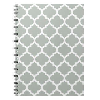 Quatrefoil Silver Gray Notepad Notebook
