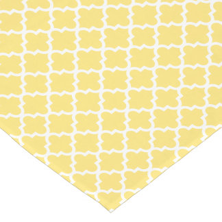 Quatrefoil Table Runner | Yellow Pattern Short Table Runner