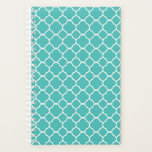 "Quatrefoil Teal Pattern Planner<br><div class=""desc"">This Item Is A Great Gift For Friends And Family! More Pattern Designs In My Store! Take A Look Around!</div>"