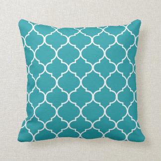 Quatrefoil Throw Pillow | {Aqua}