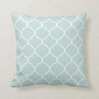 Quatrefoil Throw Pillow | {Light Aqua}