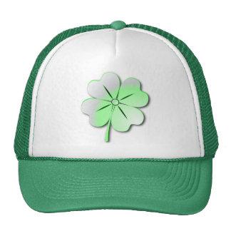 Quatrefoil verde brillante del gorra, St Patrick Gorro De Camionero