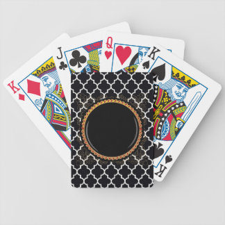 Quatrefoil White-on-Black Multiple Products select Bicycle Playing Cards