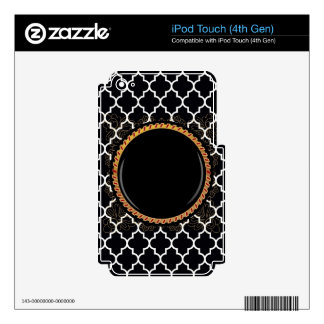 Quatrefoil White-on-Black Multiple Products select Decals For iPod Touch 4G