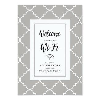Quatrefoil Wifi Sign Card