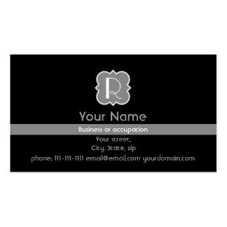 Quatrefoil with Monogram Business Card