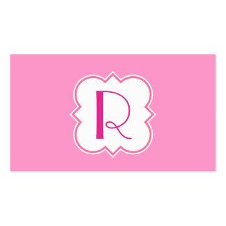 Quatrefoil with Monogram Business Card Templates