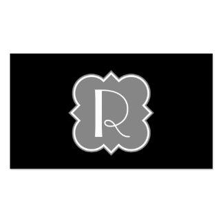 Quatrefoil with Monogram Business Card Template