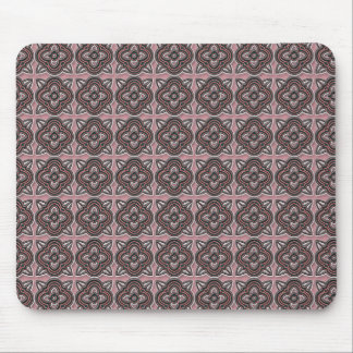 Quatrefoils Jade on Rose Mouse Pad