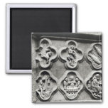 Quatrefoils with the Signs of the Zodiac 2 Inch Square Magnet