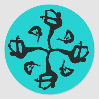Quatro Pattern Dancer Gymnast Classic Round Sticker