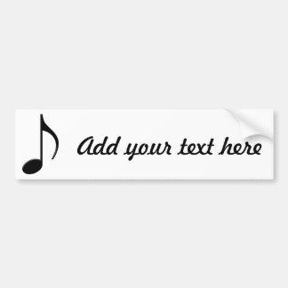 Quaver - Eighth Note Music Symbol Bumper Sticker