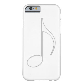 Quaver music note glass illustration barely there iPhone 6 case