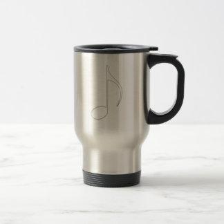 Quaver music note glass illustration travel mug