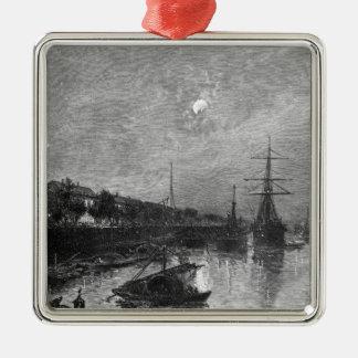 Quay at Hankou, 1893 Metal Ornament