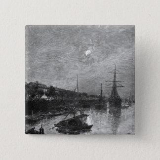 Quay at Hankou, 1893 Pinback Button