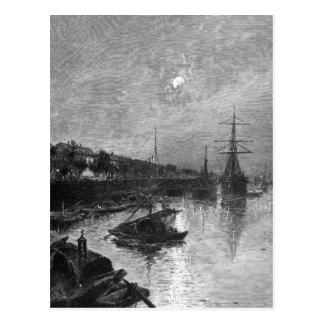 Quay at Hankou, 1893 Postcard