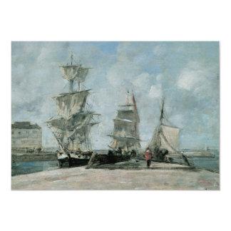 Quay at Honfleur, 1865 Card