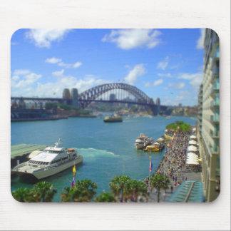 Quay circular Sydney Mouse Pads