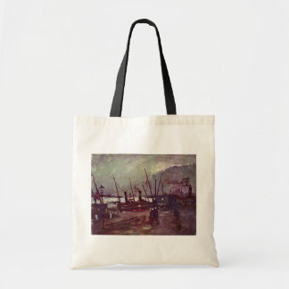 Quay In Antwerp By Ship By Vincent Van Gogh Budget Tote Bag