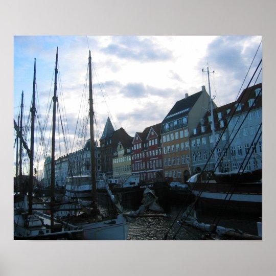 Quay in Copenhagen Poster