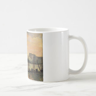 Quay in Rouen Sunset by Camille Pissarro Coffee Mug