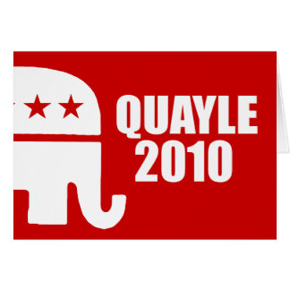 QUAYLE 2010 GREETING CARD