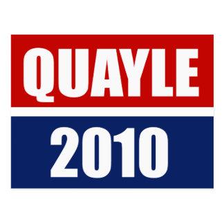 QUAYLE 2010 POSTCARD