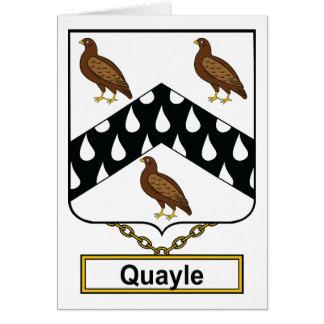 Quayle Family Crest Cards