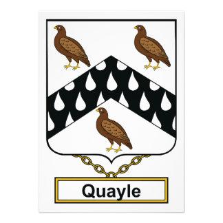 Quayle Family Crest Announcements