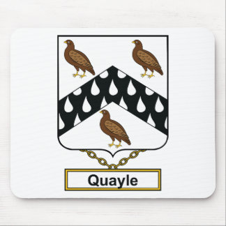 Quayle Family Crest Mouse Pad